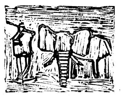 elephant-lino